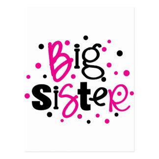 BIG SISTER pink black polkadot Postcard