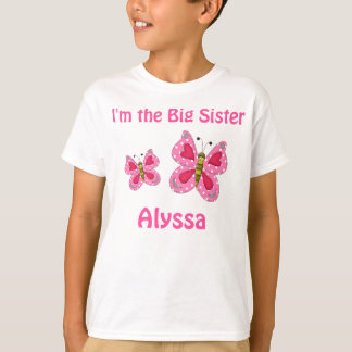 Big Sister Pink Butterfly Personalized shirt