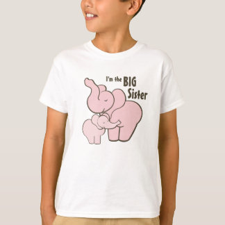 Big Sister Pink Elephant T-Shirt