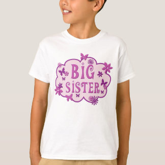 Big Sister Pink Flower Butterfly Shirt
