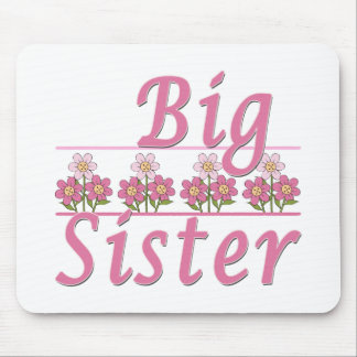 Big Sister Pink Flowers Mouse Pad