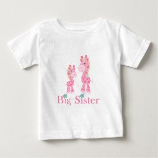Big Sister Pink Giraffes Tee Shirt