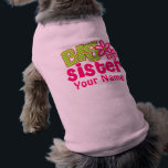 """Big Sister Pink Green Personalized Dog Shirt<br><div class=""""desc"""">Let your pet show off the fact she is going to be a big sister with this personalized big sister T Shirt.</div>"""