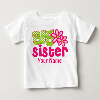 Big Sister Pink Green Personalized T Shirt