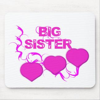 Big Sister (Pink Hearts) Mouse Pad