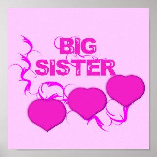 Big Sister (Pink Hearts) Poster