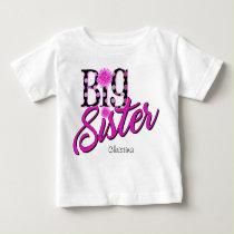 Big Sister Pink Polka Dots Baby T-Shirt