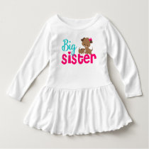 Big Sister Pink Puppy Dog Dress