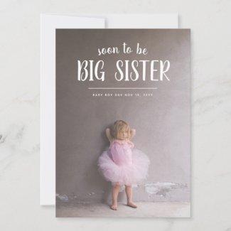 Big Sister Pregnancy Photo Announcements