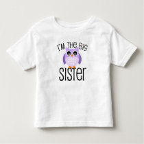 Big Sister Purple Owl Toddler T-shirt