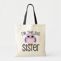 Big Sister Purple Owl Tote Bag