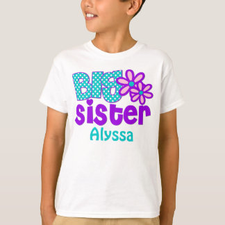 Big Sister Purple Teal Personalized shirt