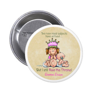 Big Sister - Queen of Twins 2 Inch Round Button