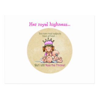Big Sister - Queen of Twins Postcard