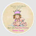 Big Sister - Queen of Twins Stickers