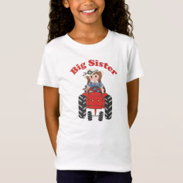 Big Sister Red Tractor T-Shirt