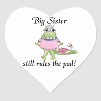 Big Sister Rules the Pad Gifts Heart Sticker