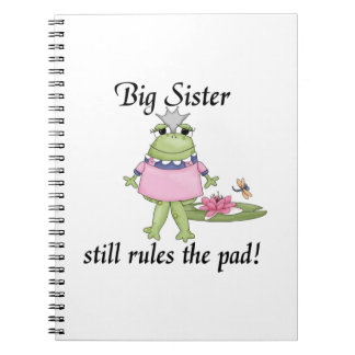 Big Sister Rules the Pad Gifts Spiral Note Book
