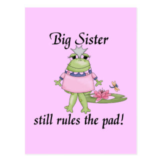 Big Sister Rules the Pad Tshirts Postcard