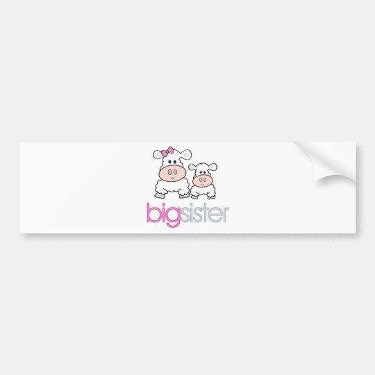 Big Sister Sheep Pregnancy Announcement T-shirt Bumper Sticker