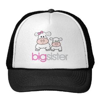 Big Sister Sheep Pregnancy Announcement T-shirt Mesh Hats