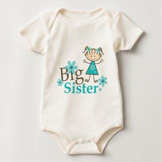 Big Sister Stick Figure Baby Bodysuit