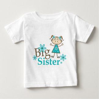 Big Sister Stick Figure Baby T-Shirt