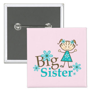 Big Sister Stick Figure Buttons