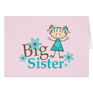 Big Sister Stick Figure Card