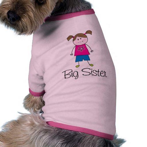 big sister stick figure dog clothing