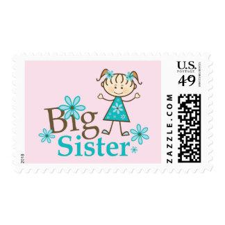 Big Sister Stick Figure Postage