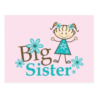 Big Sister Stick Figure Postcard