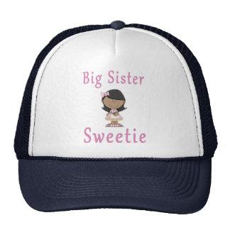 Big Sister Sweetie Black Hair Hats