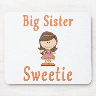 Big Sister Sweetie Brown Hair Mouse Pad