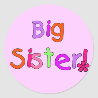 Big Sister T-shirts and Gifts Classic Round Sticker
