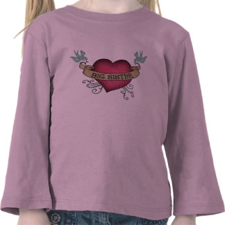 Big Sister Tattoo Heart T Shirt