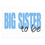 Big Sister To Be (Blue Block Font) Post Cards