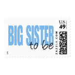 Big Sister To Be (Blue Block Font) Stamp