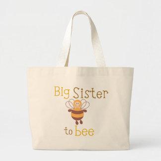 Big Sister to be Large Tote Bag