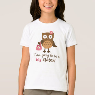 Big Sister to be - Mod Owl t-shirts for girls