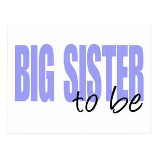 Big Sister To Be (Purple Block Font) Postcard