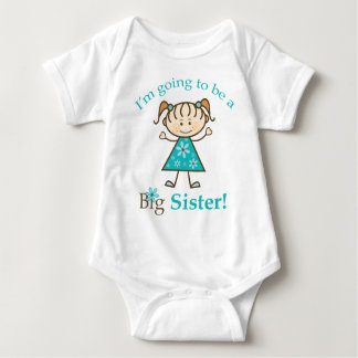 Big Sister To Be Stick Figure Baby Baby Bodysuit