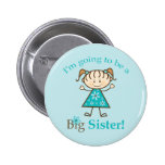 Big Sister To Be Stick Figure Button