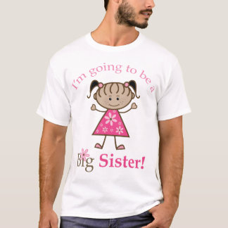 Big Sister To Be Stick Figure Girl Ethnic T-Shirt