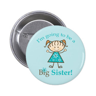 Big Sister To Be Stick Figure Pinback Button