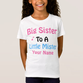 Big Sister to Little Mister Personalized Shirt