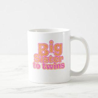 Big Sister to Twins Classic White Coffee Mug