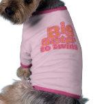 Big Sister to Twins Doggie Shirt