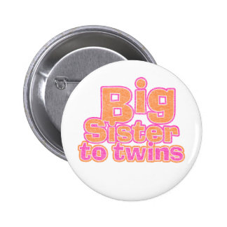 Big Sister to Twins Pinback Button