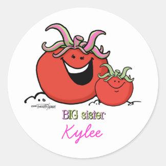 Big Sister - Tomato Classic Round Sticker